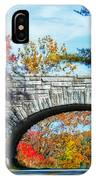 Blue Ridge Autumn Bridge IPhone Case