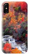 Blue Ridge Parkway Waterfall In Autumn IPhone Case