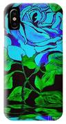 Blue Rose In The Rain IPhone Case