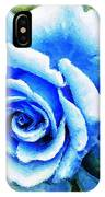 Blue Rose With Brushstrokes IPhone Case