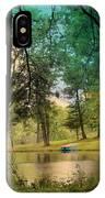 Blue Rowboat On Golden Pond IPhone Case
