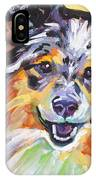 Blue Sheltie IPhone Case