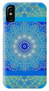 Blue Space Flower IPhone Case