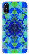 Blue Sri Yantra Variation IPhone Case