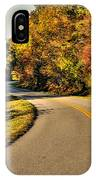 Blue Star Highway In Fall IPhone Case