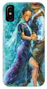 Blue Tango 3 IPhone Case