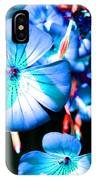 Blue Tint Flowers IPhone Case