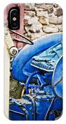 Blue Tractor IPhone Case