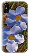 Blue Trumpet Vine In Manuel Antonio's Butterfly Botanical Garden-costa Rica IPhone Case