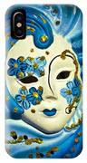 Blue Venetian Mask IPhone Case