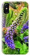 Blue Veronica Flowers   Digital Paint IPhone Case