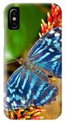 Blue Wave Butterfly IPhone Case