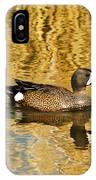 Blue Winged Teal 2 IPhone Case