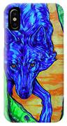 Blue Wolf IPhone Case