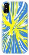 Blue Yellow White Swirl IPhone Case