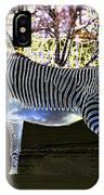 Blue Zebra IPhone Case