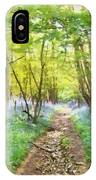 Bluebell Wood Watercolour IPhone Case