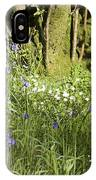 Bluebells And Greater Stitchwort Spring  Boot Eskdale Cumbria England IPhone Case