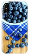 Blueberries And Blue Napkin IPhone Case