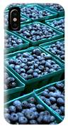 Blueberry Season In Maine IPhone Case