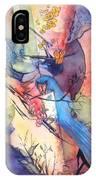 Bluebird And Butterflies IPhone Case