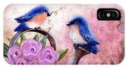 Bluebirds And Butterflies IPhone Case