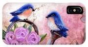 Bluebirds And Butterflies IPhone Case