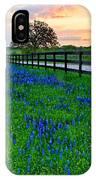 Bluebonnet Fields Forever Brenham Texas IPhone Case