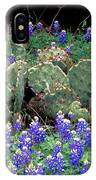 Bluebonnets And Cacti IPhone Case