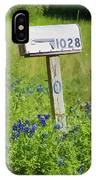 Bluebonnets And Mailbox IPhone Case
