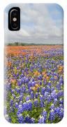 Bluebonnets And Paintbrush Near Whitehall Texas 2 IPhone Case