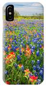 Bluebonnets And Prarie Fire IPhone Case