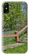 Bluebonnets And Stairs IPhone Case