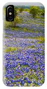 Bluebonnets Over Hill And Dale IPhone Case