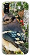 Bluejay And Ice IPhone Case