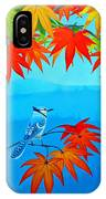Bluejay In The Fall IPhone Case