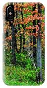Blustery October Weather IPhone Case