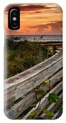 Boardwalk Sunrise Amelia Island Florida IPhone Case