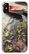 Boat At Dock  IPhone Case