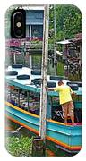Boat For Transportation On Canals In Bangkok-thailand IPhone Case