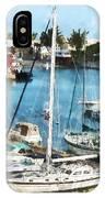 Boat - King's Wharf Bermuda IPhone Case