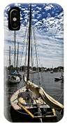 Boat Under The Clouds IPhone Case