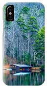 Boathouse On Pinnacle Lake IPhone Case