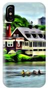 Boathouse Rowers On The Row IPhone Case