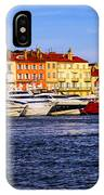 Boats At St.tropez Harbor IPhone Case