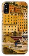 Boats At The Harbor, Camogli, Liguria IPhone Case