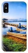Boats At The Lake IPhone Case