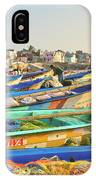 Boats Being Readied For Fishing IPhone Case