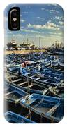 Boats In Essaouira Morocco Harbor IPhone Case