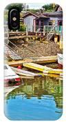 Boats In Halls Harbour-nova Scotia  IPhone Case